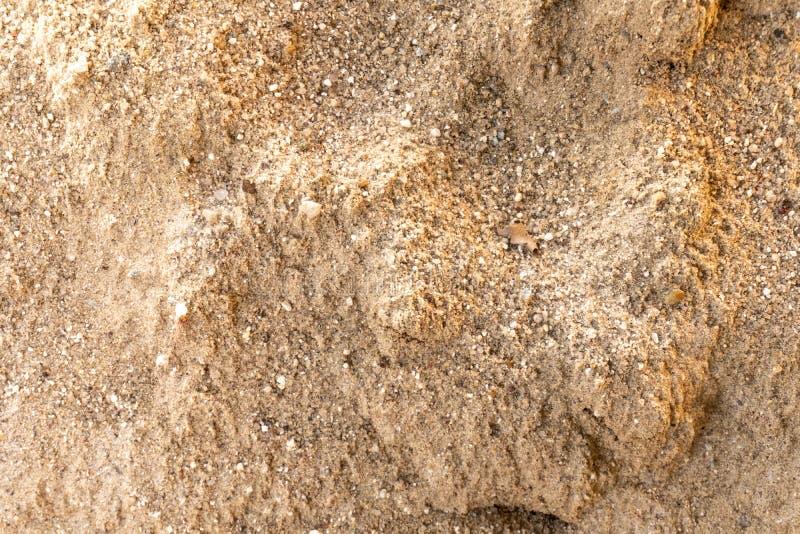 在海滩的沙子的线 图库摄影