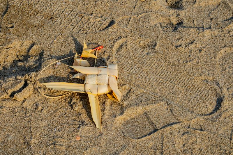 在海滩的泰国流动鱼 免版税库存照片