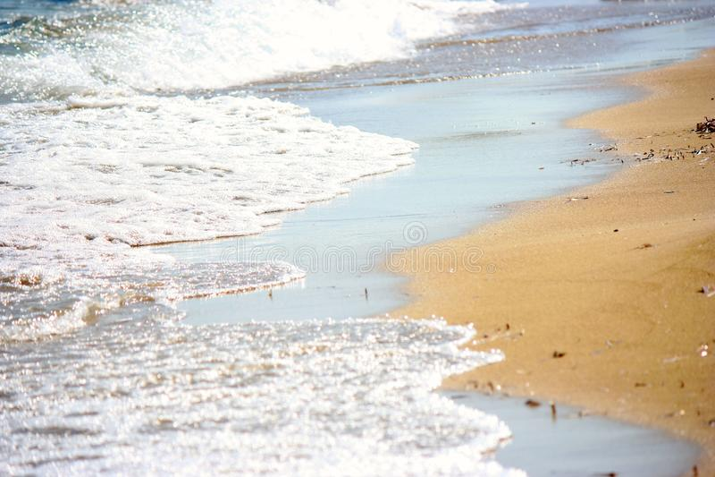 在海滩的洗涤 免版税库存图片