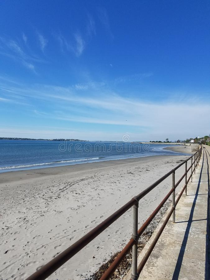 在海滩的美丽的景色 库存照片