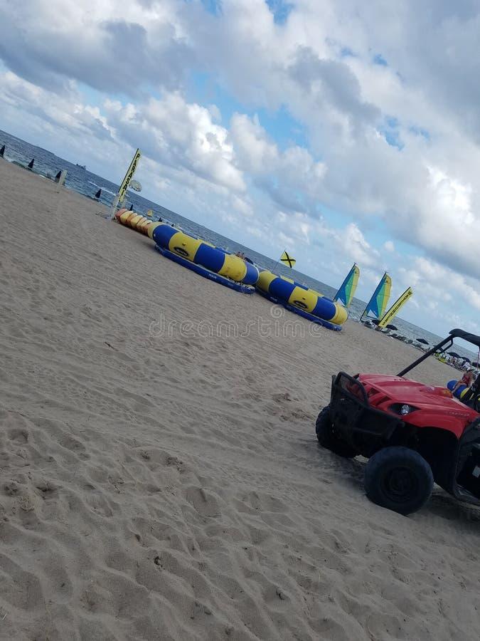 在海滩迈阿密今天佛罗里达的下午 免版税图库摄影