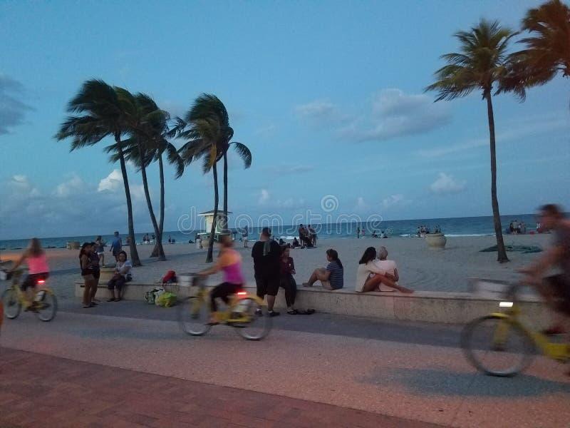 在海滩迈阿密今天佛罗里达的下午 库存图片