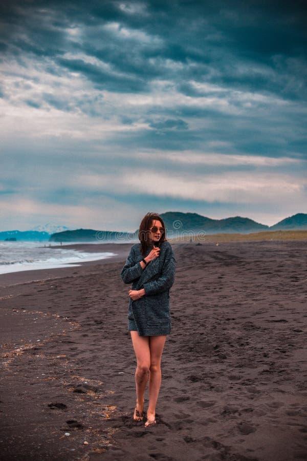 在海滩 库存照片