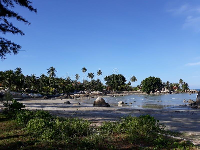 在海滩Parai Tenggiri的风景 库存照片