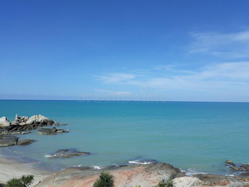 在海滩Tikus的风景 免版税库存图片