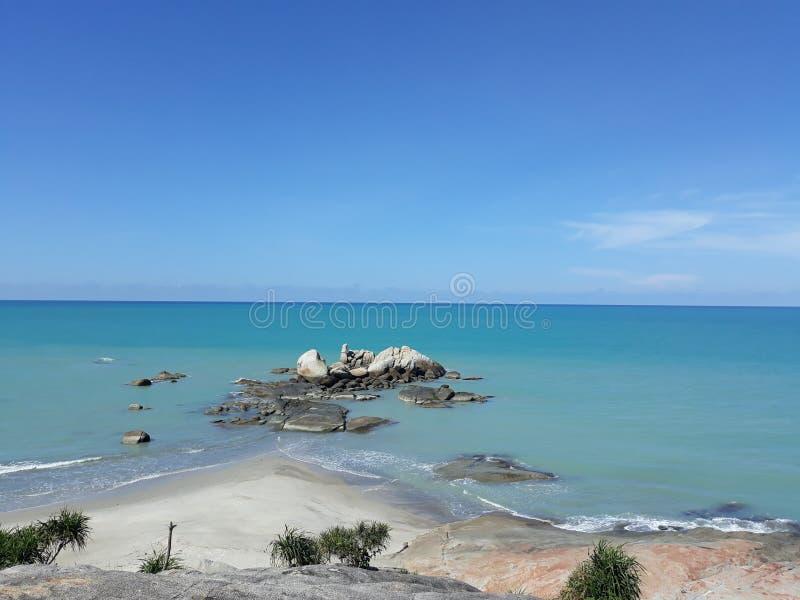 在海滩Tikus的风景 库存照片