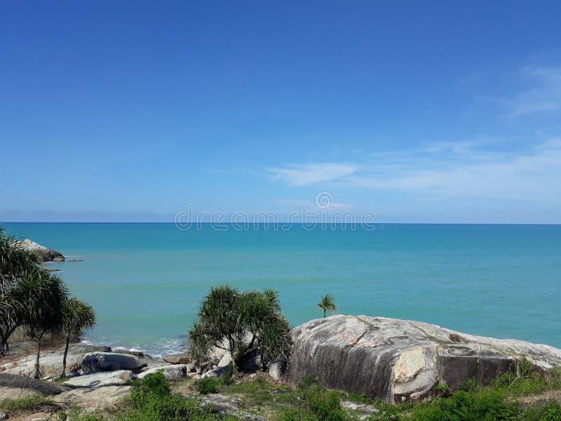 在海滩Tikus的风景 库存图片