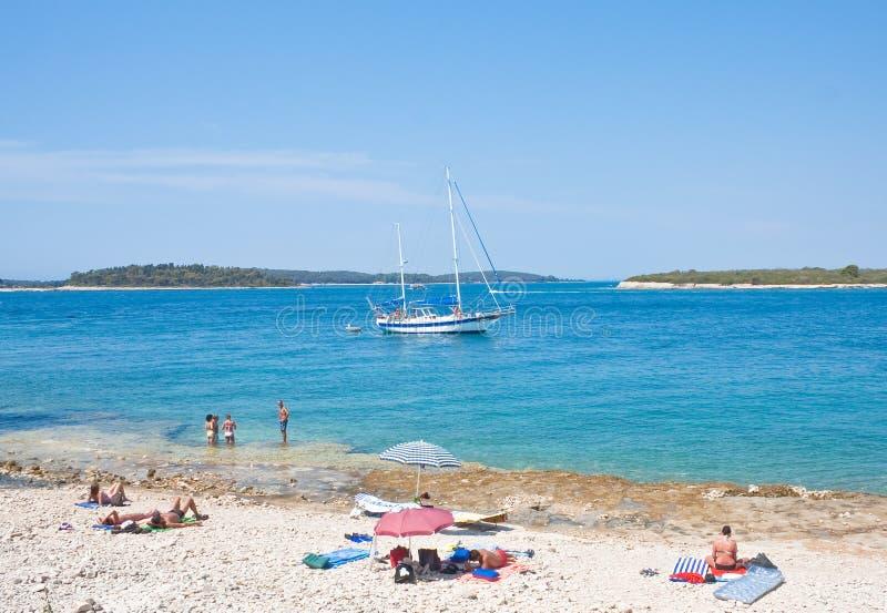 在海的假日。克罗地亚 免版税库存图片