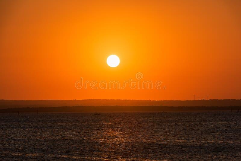 在海的日落La的Perouse悉尼澳大利亚 免版税库存照片