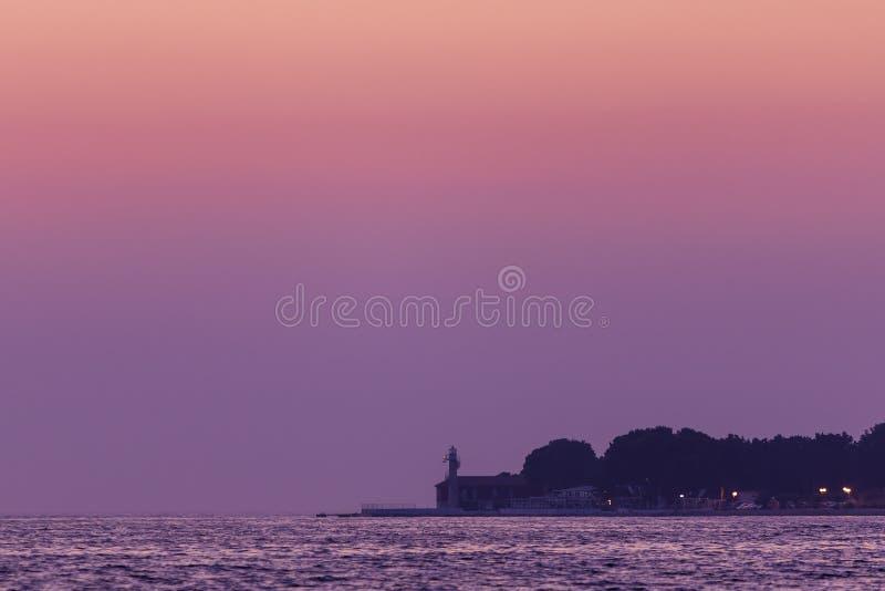 在海的灯塔 免版税图库摄影