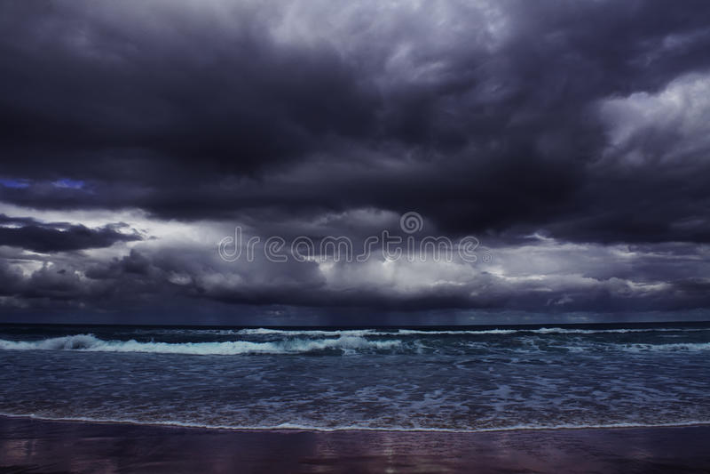 在海的风暴 库存照片