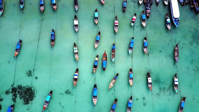 在海的鸟瞰图 免版税库存照片