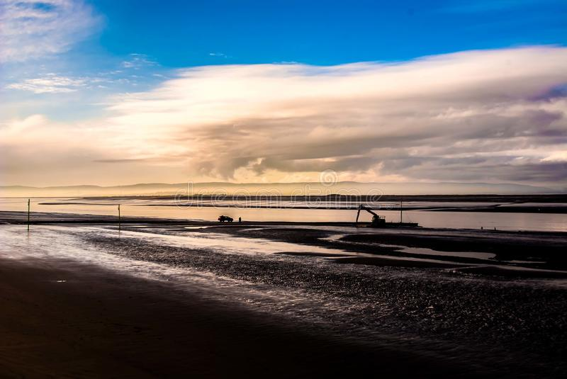 在海的Bridgwater海湾伯翰姆 免版税库存照片