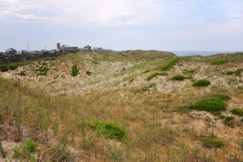 在海角Hatteras,北卡罗来纳的沙丘 免版税库存照片