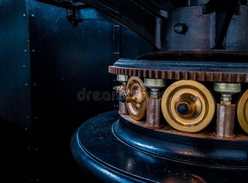 在海角Meares灯塔,俄勒冈的齿轮 库存照片