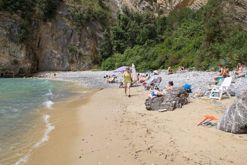 在海角Palinuro,意大利的旅游业 图库摄影