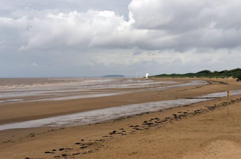 在海运海滩的Burnham 免版税库存照片