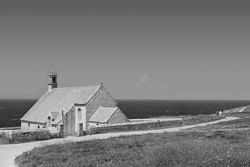 在海运附近的教会 免版税库存照片