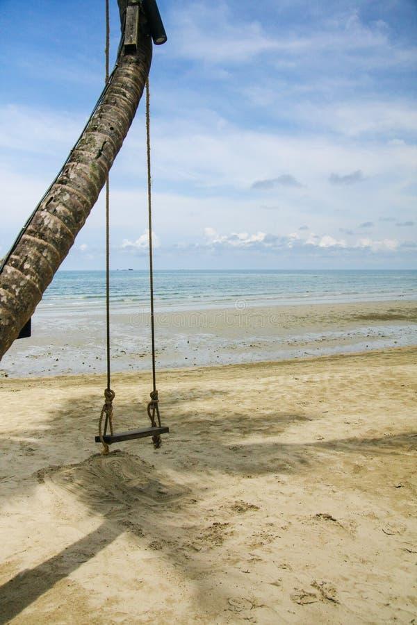 在海,泰国旁边的摇摆 库存图片