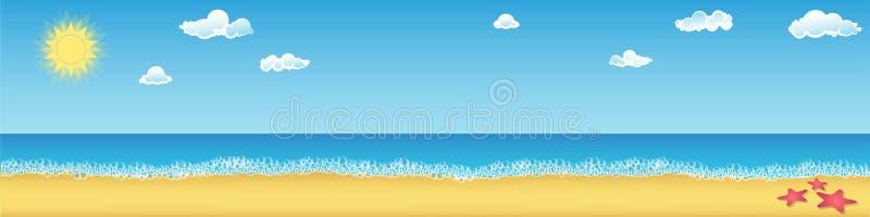 在海滩的夏日 向量例证