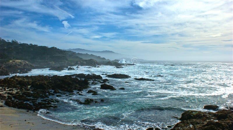 在海洋的天 图库摄影