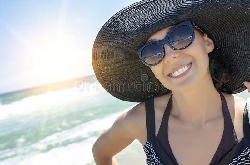 在海滩的暑假 免版税库存照片