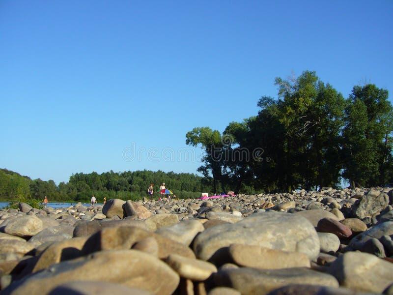在海滩的暑假 免版税库存图片