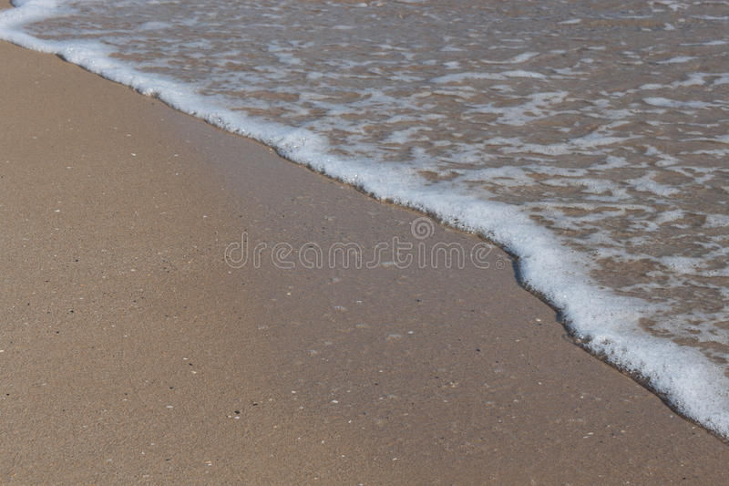 在海滩的沙子 库存图片