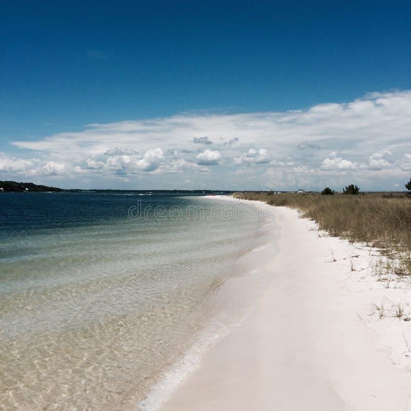 在海滩的海湾 免版税库存图片