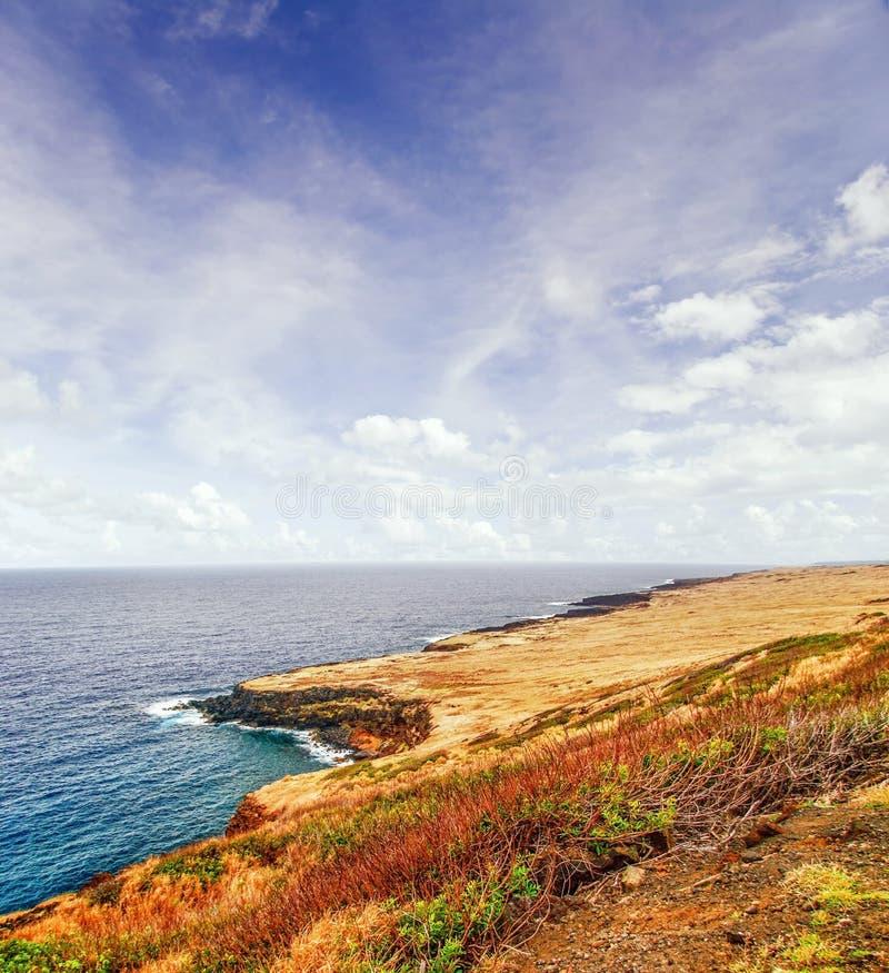 在海洋的看法 免版税库存照片
