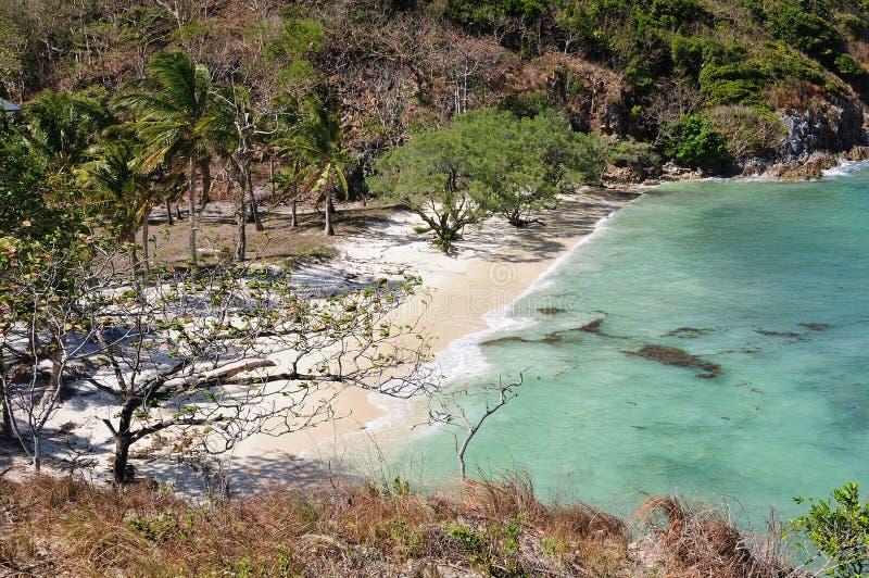 在海滩的美丽的景色 免版税库存照片