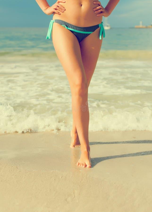 在海滩的行程 免版税库存照片