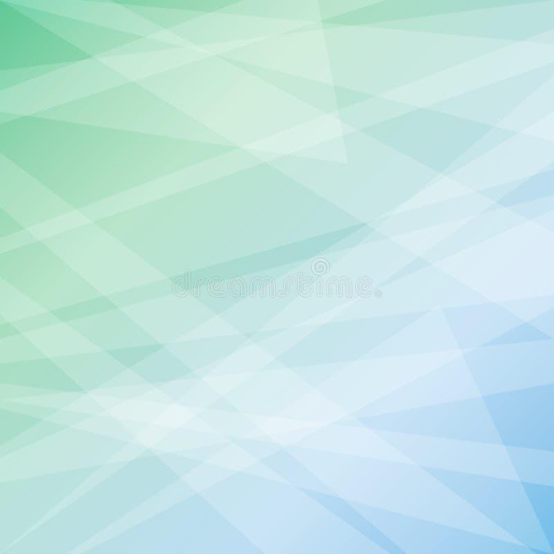 在淡色多样式的几何抽象背景 库存例证