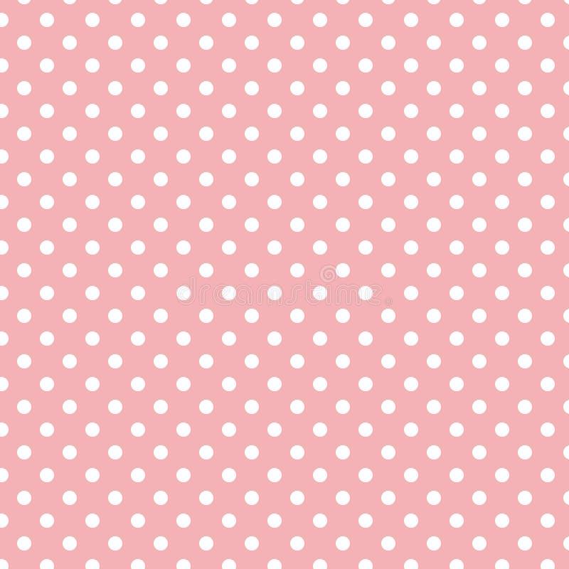 在淡色浅粉红色的小白色圆点 库存照片