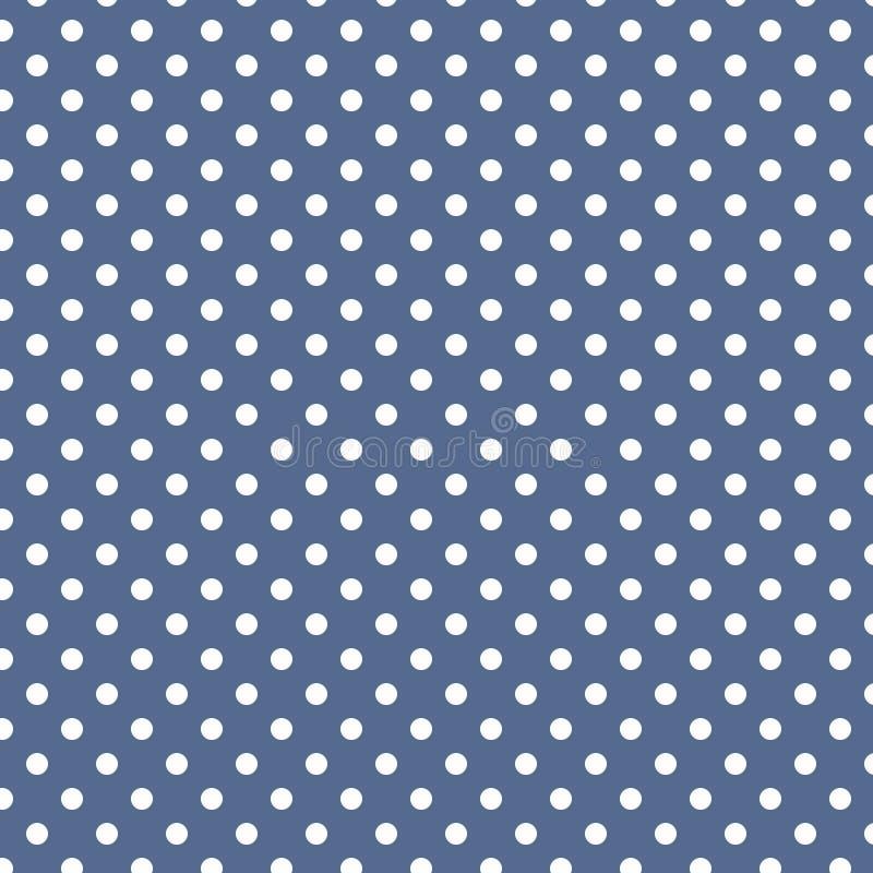 在淡色深蓝的小白色圆点 免版税库存照片