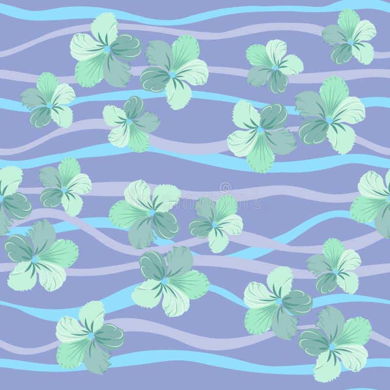在淡色的花卉无缝的样式,传染媒介 库存例证