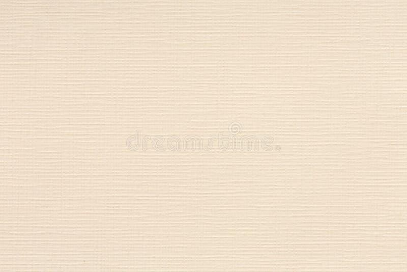 在淡黄色奶油色米黄颜色口气的被混和的纸纹理样式背景 免版税库存图片