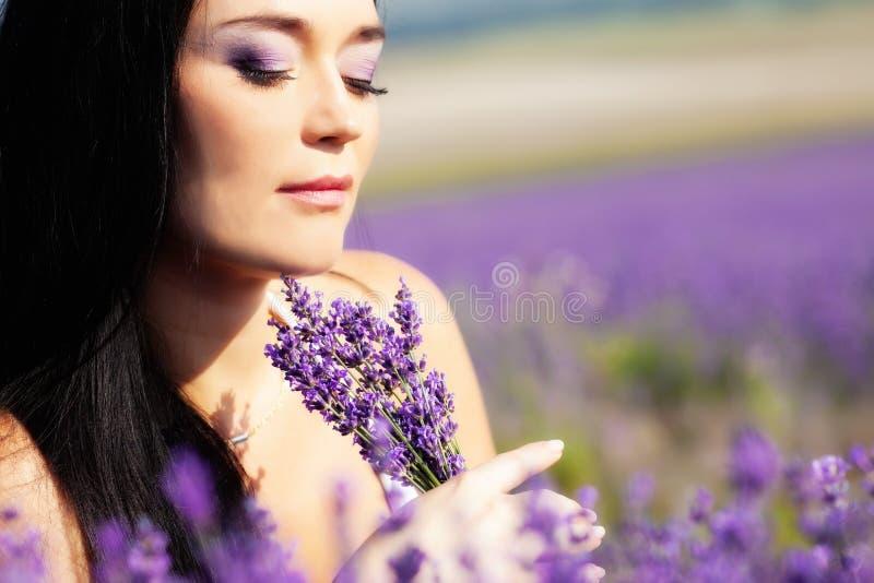 在淡紫色的画象 免版税库存图片