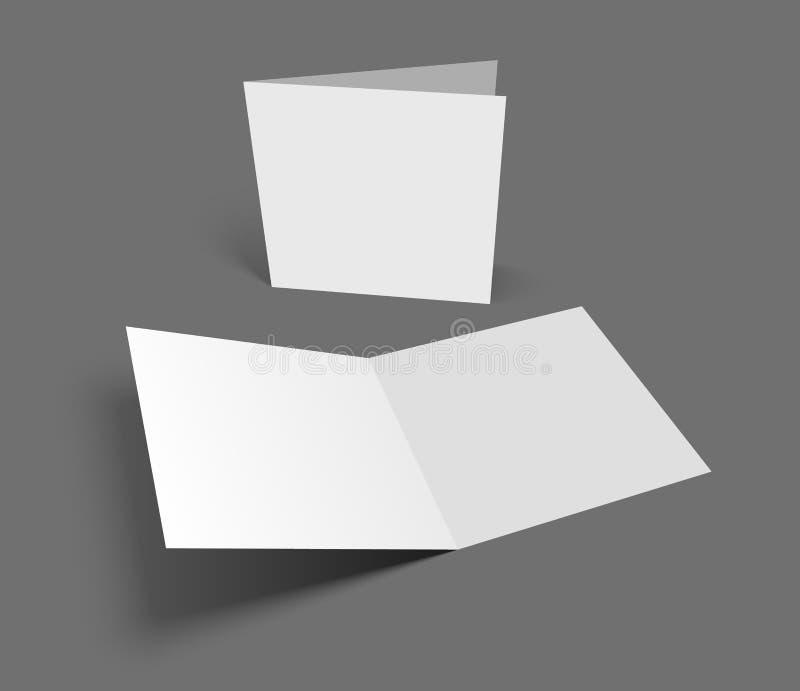 在深灰的空白的传染媒介例证正方形贺卡 库存例证