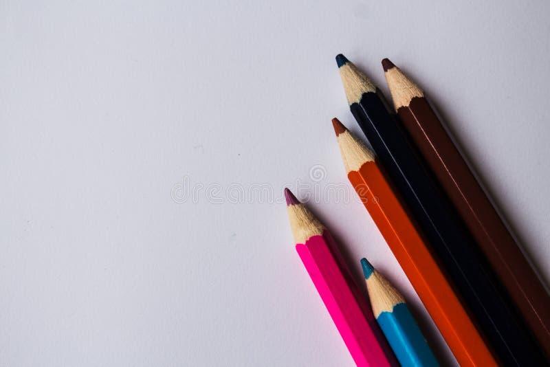 在混乱的颜色铅笔 免版税库存图片