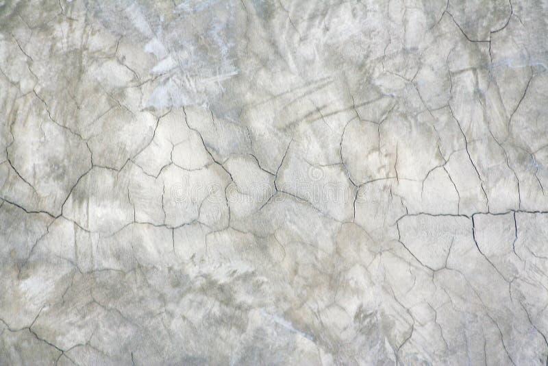 在混凝土墙上的裂缝 免版税库存图片