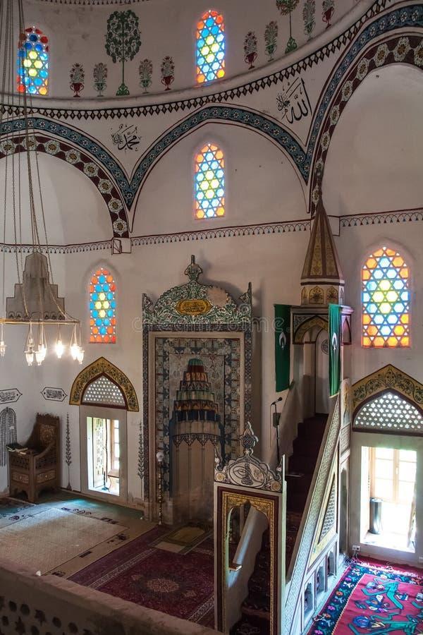 在清真寺里面 免版税库存照片