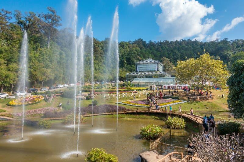 在清迈,泰国附近的女王诗丽吉植物园 免版税库存图片