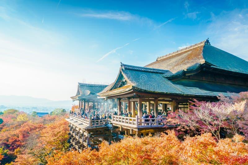 在清水寺寺庙京都,日本的美好的建筑学 图库摄影