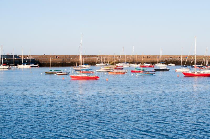 在港口的看法Howth半岛的 图库摄影
