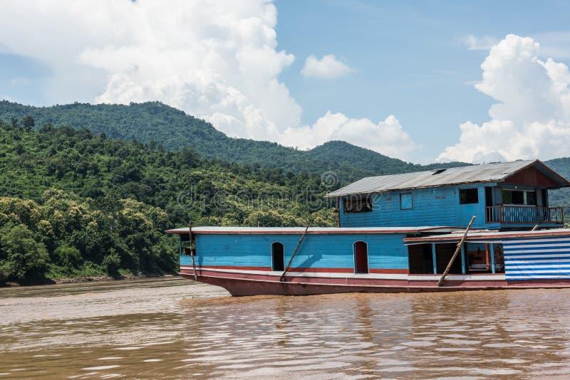 在湄公河的看法 免版税库存照片