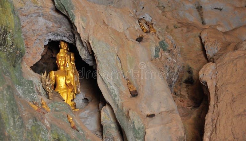 朴在湄公河的Ou洞 免版税库存照片