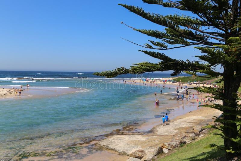 在湖入口,澳大利亚的风景 免版税库存照片