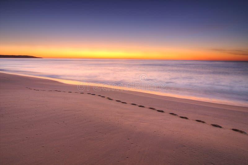 在湖入口,维多利亚,澳大利亚的日出 免版税图库摄影