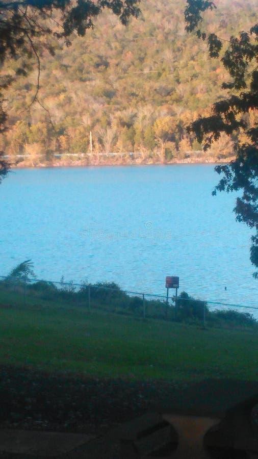 在湖的休息区在东田纳西 免版税图库摄影